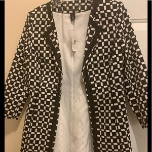 Black and white blazer jacket New, with tags